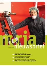 Nieuwsbrief oktober 2012 - Stichting Moria