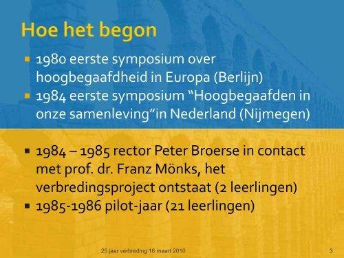 ontstaans- en wordingsgeschiedenis - Stedelijk Gymnasium Nijmegen