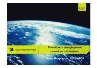 Framtidens energisystem – utmaningar och möjligheter. - Ekopiloter