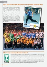 Iwan Ursic als Handball-Botschafter am Sporthilfe ... - Handballworld