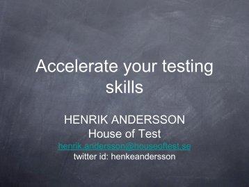 HENRIK ANDERSSON House of Test - SAST
