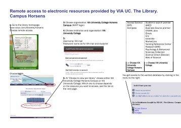 Fjernadgang til Teknisk – Merkantilt Biblioteks elektroniske ressourcer