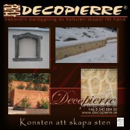 Konsten att skapa sten - Decopierre
