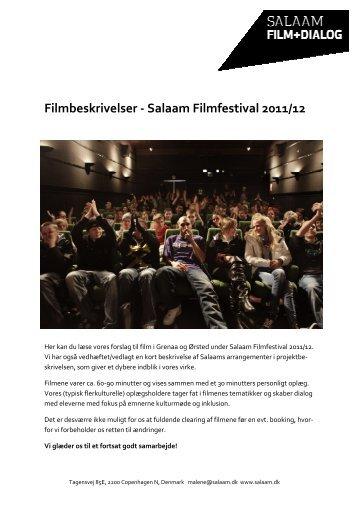 Filmbeskrivelser - Salaam Filmfestival 2011/12 - Kino Grenaa