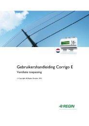 Gebruikershandleiding Corrigo E - regin