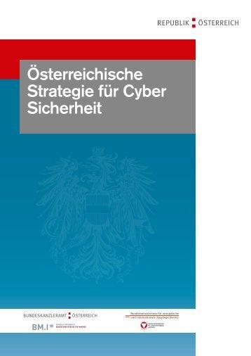Österreichische Strategie für Cyber Sicherheit