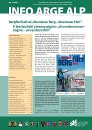 """Il festival del cinema alpino """"Avventura mon- tagna ... - Arge Alp"""