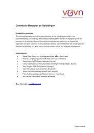 Commissie Wetenschap - Verpleegkundigen & Verzorgenden ...