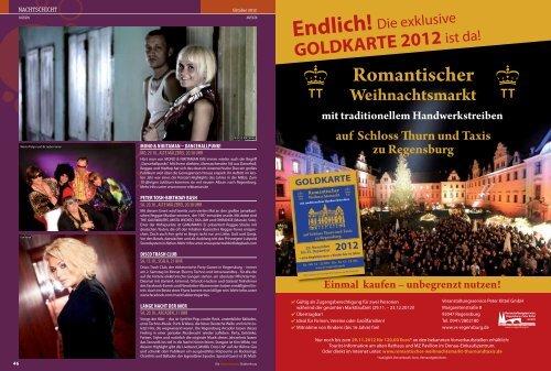 GOLDKARTE 2012 - Regensburger Stadtzeitung