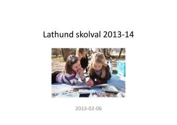 Lathund Skolval 2013-14
