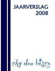 Jaarverslag 2008 - CKG Don Bosco