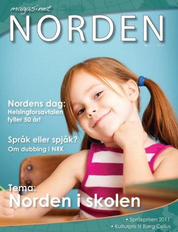 Magasinet Norden nr. 1 - Forsiden - Foreningen Norden