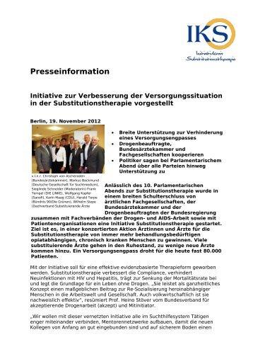Presseinformation Initiative zur Verbesserung der ...