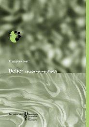 Delier (acute verwardheid) - Erasmus MC
