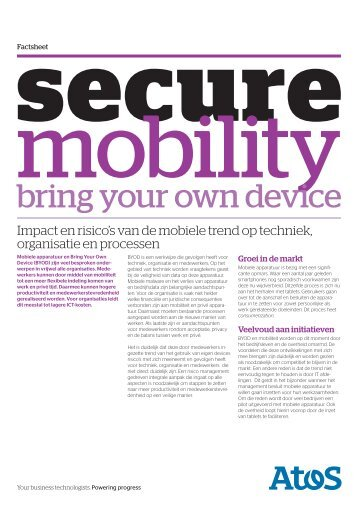 Secure mobility - Bring your own device - Atos Consulting