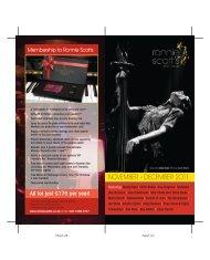 For Just £175 Per Year! - Ronnie Scott's Jazz Club