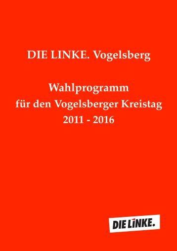 LINKE Wahlprogramm - Die LINKE Vogelsberg