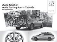 Auris Touring Sports Zubehör Preisliste