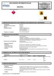 VEILIGHEIDS INFORMATIE BLAD PROTRYL - Mondo Chemicals