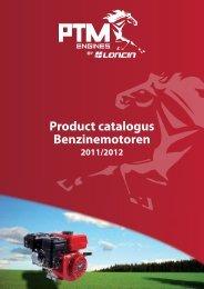 Product catalogus Benzinemotoren - PTM Engines