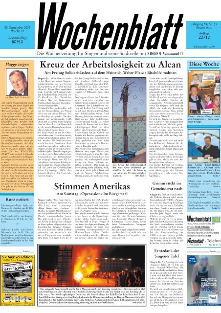 28. Sep. 2005 Singener Wochenblatt