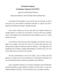 Cérémonie de départ de l'iEN, le 6 juillet 2012 - Remiremont