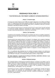 Taxa per recollida, tractament i eliminació de residus ... - Club EMAS