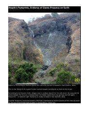 Angalo's Footprints, Evidence of Giants Presence on Earth