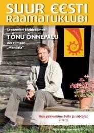 TÕNU ÕNNEPALU - Suur Eesti Raamatuklubi