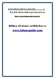 En kort illustrert guide for å forstå islam - PDF