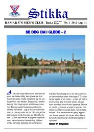 Stikka 1 2012 - Hamar Y's Men's Club