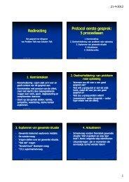 Redirecting Protocol eerste gesprek: 5 procesfasen