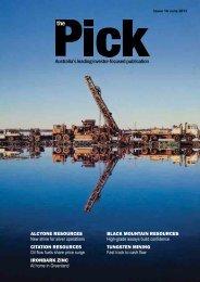 The Pick - Issue 10 - Potash West