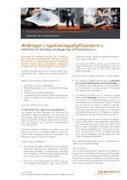 Ændringer i registreringsafgiftsloven m.v. - Beierholm