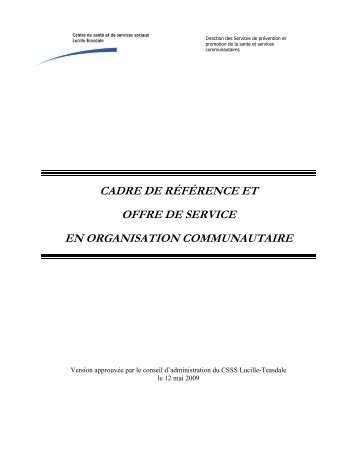 cadre de référence - CSSS Lucille-Teasdale
