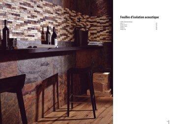 Feuilles d'isolation acoustique - Porcelanosa