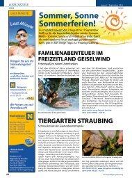 Sommer, Sonne Sommerferien! - Regensburger Stadtzeitung