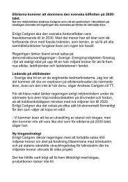 Elbilarna kommer att dominera den svenska bilflottan på 2020- talet ...