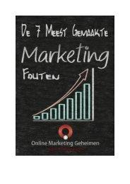 Gratis Verslag – 7 meest gemaakte marketing fouten - Online ...