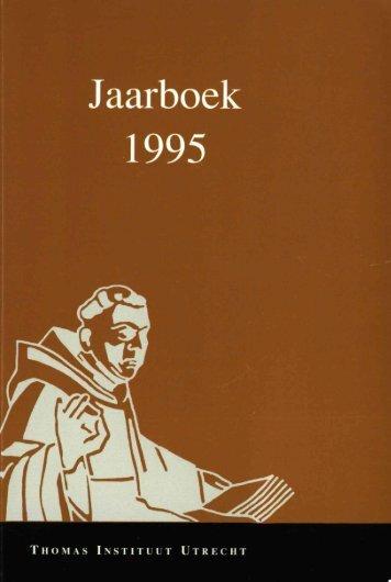 Jaarboek Thomas Instituut 1995 - Thomas Instituut te Utrecht