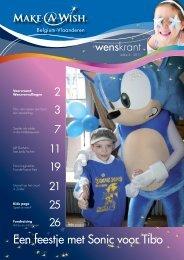 Een feestje met Sonic voor Tibo - Make a Wish