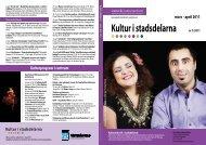 Kultur i stadsdelarna nr 1/2011 - Västerås kulturcentrums