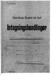 Vänersborgs Hospital och Asyl