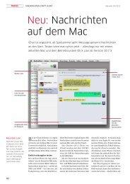 Neu: Nachrichten auf dem Mac - Macwelt