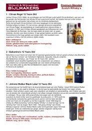Informatie over de whisky's vindt u hier