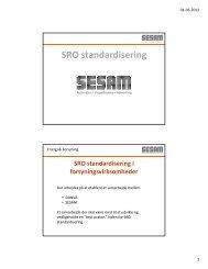 SRO standardisering - Sesam Danmark | SESAM World
