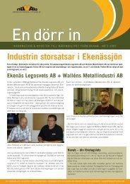 Industrin storsatsar i Ekenässjön - Nuvab