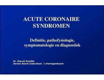 ACUTE CORONAIRE SYNDROMEN - ICverpleegkundige.com