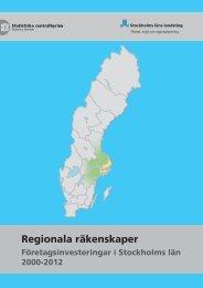 Regionala räkenskaper - SLL Tillväxt, miljö och regionplanering ...