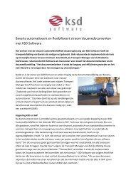Bavaria automatiseert en flexibiliseert stroom ... - KSD Software